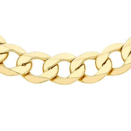 9K Yellow Gold Curb Chain (Size 20), Gold wt 20.35 Gms
