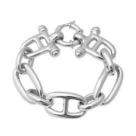 Rhodium Overlay Sterling Silver Bracelet (Size 8.25), Silver wt 24.58 Gms