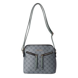 LOCK SOUL Green Crossbody Bag with Zipped Two Front Pockets