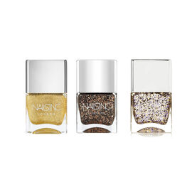 Nails Inc: The Party Girl (Incl. Exhibition Road - 14ml, Belgrave Square - 14ml & Chelsea Embankment