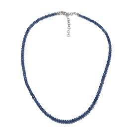 One Time Deal- Rare Size Kanchanaburi Blue Sapphire (Rnd) Beads Necklace (Size 18 with 2 Inch Extend