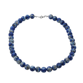 Super Find - Blue Variscite Beads Necklace (Size 18) in Sterling Silver 304.00 Ct.