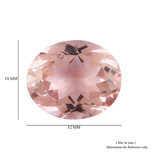 AAA Pink Morganite Oval 12x10 Faceted 4.18 Cts