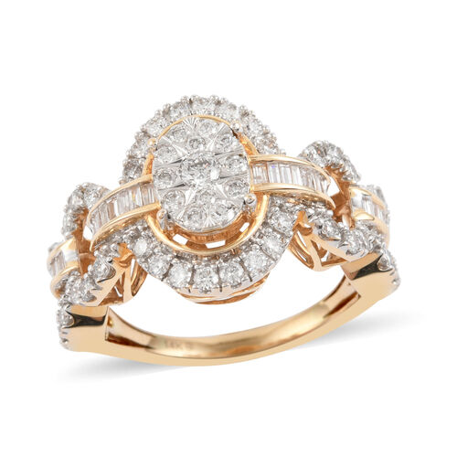 NY Close Out 14K Yellow Gold Diamond (I1-I2/G-H) Ring 1.00 Ct, Gold wt. 5.50 Gms