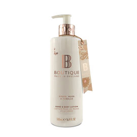 Boutique: Amber, Musk & Vanilla Hand & Body Lotion - 500ml