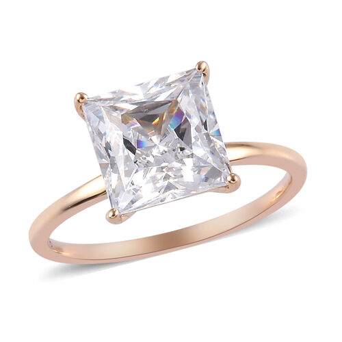 J Francis Made with SWAROVSKI ZIRCONIA Solitaire Ring in 9K Yellow Gold