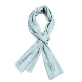 100% Cashmere Wool Light Blue Colour Scarf (Size 190x68Cm)