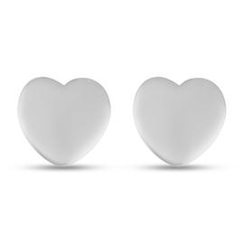 RHAPSODY 950 Platinum Heart Stud Earrings (with Screw Back)
