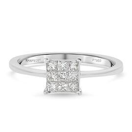 RHAPSODY 950 Platinum IGI Certified Diamond (VS/E-F) Diamond Ring 0.50 Ct.