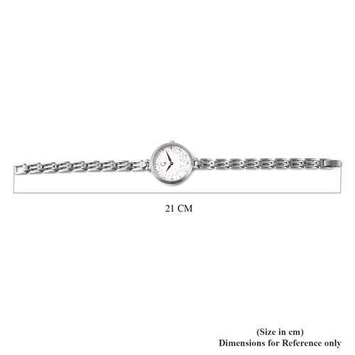 RACHEL GALLEY Swiss Movement 5ATM Water Resistant Watch in Stainless Steel - White