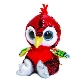 Keel Toys - Glitter Motsu - Red and Gold Sequins Parrot