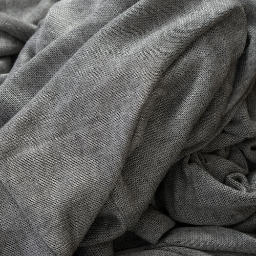 Grey Colour Cow Neck Pattern Cardigan (Large / Xtra Large)