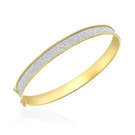 One Time Deal- 9K Yellow Gold Stardust Bangle (Size 6), Gold Wt. 3.40 Gms