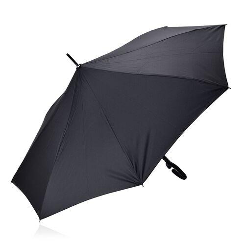 Reverse Folding Double Layer C-Handle Umbrella with Royal Blue-Black (Size-88 Cm)