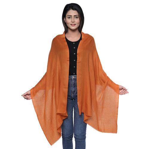 100% Cashmere Wool Coral Colour Scarf (Size 190x70 Cm)