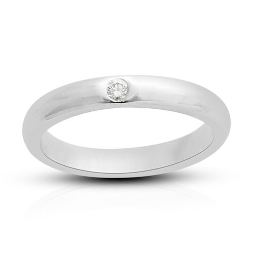 RHAPSODY Diamond Band Ring in 950 Platinum 5.7 Grams IGI Certified VS EF