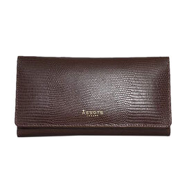 Assots London CLAIRE - 100% Genuine Leather Wallet (20x1.5x10cm) - Brown