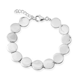 High Polished Round Coin Necklace in Sterling Silver 48.43 Grams 20 Inch