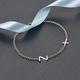 Personalised Single Alphabet + Cross, Name Bracelet in Silver, Size - 7.5 Inch