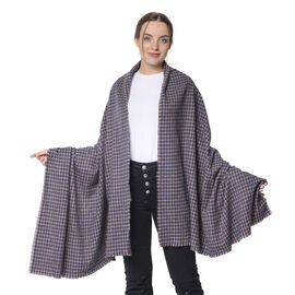 Winter Christmas Special- Designer Inspired Checkers Scarf (Size 195x88cm)- Dark Grey