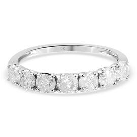 9K White Gold SGL Certified Diamond (I2-I3/G-H) Ring 1.00 Ct.