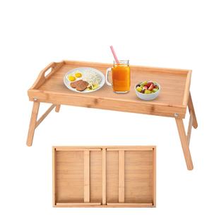 Foldable Bamboo Tray ( Folded Size 50x30x7cm, Unfolded Size 50x30x22cm)