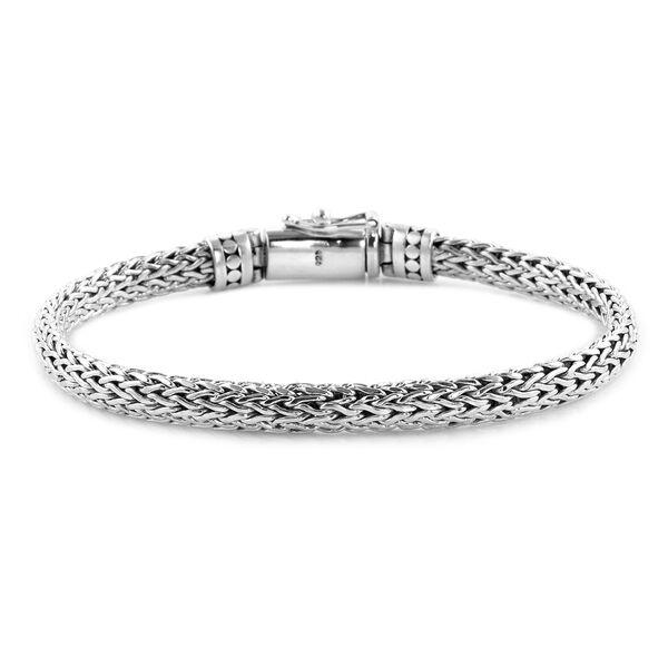 Royal Bali Collection Sterling Silver Tulang Naga Bracelet (Size 8), Silver wt 27.91 Gms