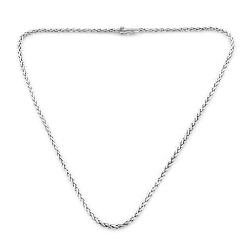 Royal Bali Collection - Sterling Silver Padian Necklace (Size 22), Silver wt. 26.07 Gms