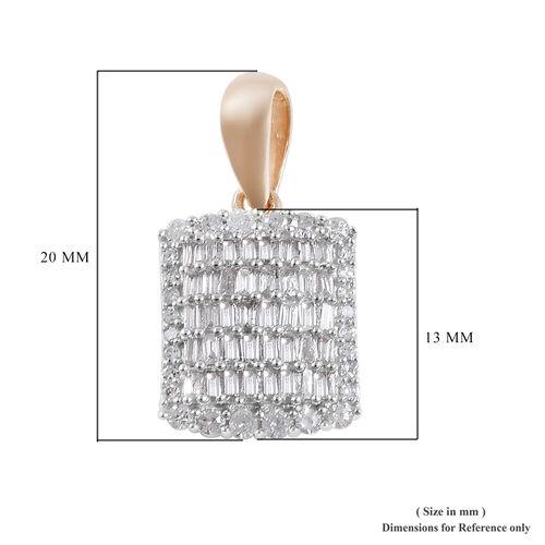 9K Yellow Gold SGL Certified Diamond (I3/G-H) Pendant 0.50 Ct.