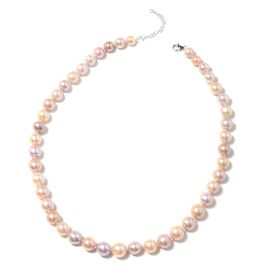 RHAPSODY AAAA Multicolour Edison Pearl Beaded Necklace in 950 Platinum 20 Inch