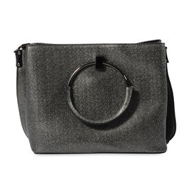 Bulaggi Collection - Stacey Metallic Handbag (Size 24x20x11 Cm) - Black
