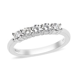 RHAPSODY 0.50 Ct Diamond Band Ring in 950 Platinum 4.03 Grams IGI Certified VS EF