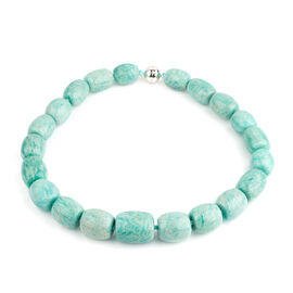 Super Auction- Rare Russian Amazonite Necklace (Size 20) with Magnetic Lock in Rhodium Plated Sterling Silver 1214.000 Ct.