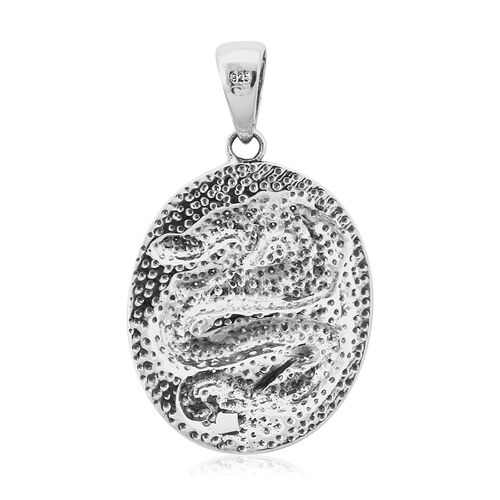 Royal Bali Collection - Sterling Silver Dragon Pendant, Silver wt 6.86 Gms