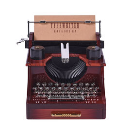 Home Decor Antique Typewriter Musical Jewellery box (Size 14x16x11cm)