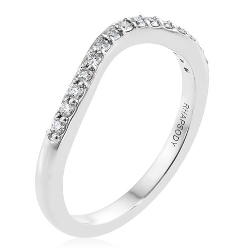 RHAPSODY 950 Platinum IGI Certified Diamond (Rnd) (VS/E-F) Ring 0.200 Ct.