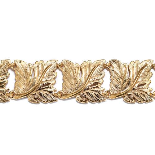 Designer Inspired Oak Leaf Bracelet (Size 7.5) in 18k Gold Plated