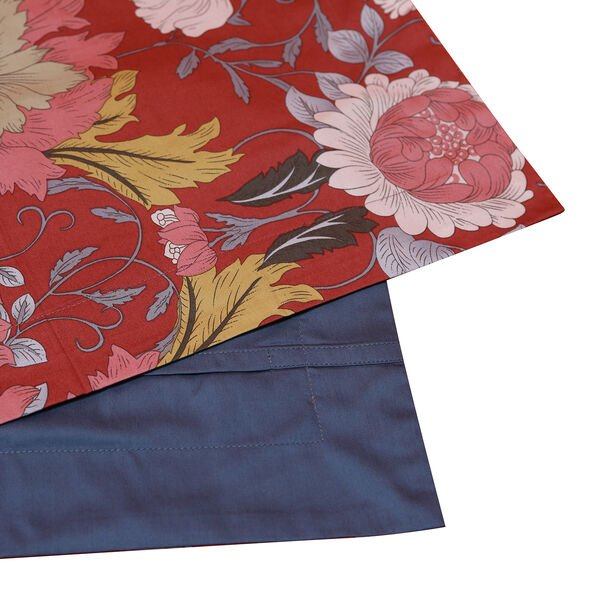 4 Piece Set - Mulberry Silk Quilt with Cotton Printed Cover (200x200cm), 2 Pillow Cases (50x70+5cm) and Cushion Cover (40x40cm) - Cameo Brown