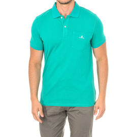 Karl Lagerfeld Mens Basic Polo Short Sleeve T-Shirt in Green Colour Size S