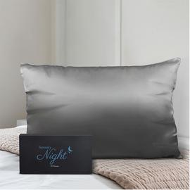 100% Mulberry Silk Front Side- Single Pillowcase (Size 50x75cm) - Dark Grey