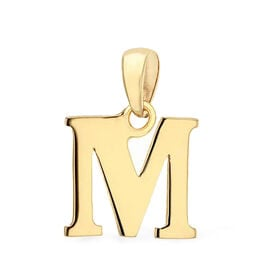 9K Yellow Gold Initial M Pendant