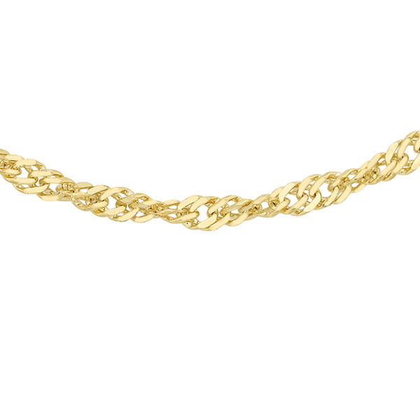 9K Yellow Gold Twisted Curb Chain (Size 16)
