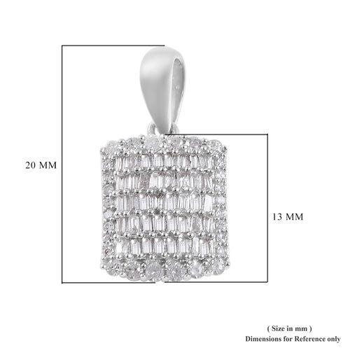0.50 Ct Diamond Cluster Pendant in 9K White Gold SGL Certified I3 GH