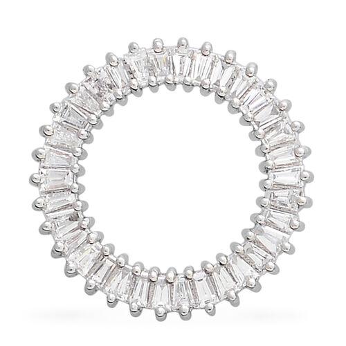 RHAPSODY 0.50 Carat Diamond Circle of Life Pendant in 950 Platinum 2.46 Grams IGI Certified VS EF