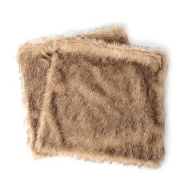 Set of 2 - Faux Fur with Reverse Mink Cushion Cover (Size 45.72x45.72 Cm)