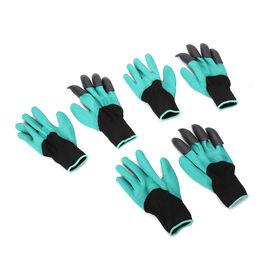 1 Pair Garden Genie Gloves (Size:26x14.5x4cm) - Teal Green & Black