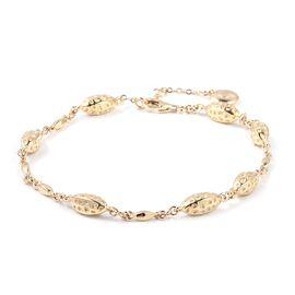 RACHEL GALLEY 9K Yellow Gold Pebble Lattice Bracelet (Size 7 - 8 Inches), Gold wt 9.11 Gms.