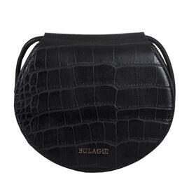 Bulaggi Collection Iris Croco Crossbody Bag - Black
