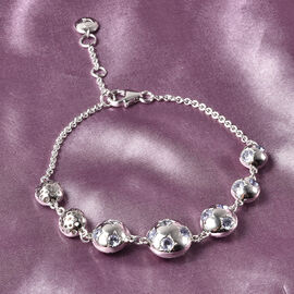 RACHEL GALLEY Orbit Collection - Tanzanite Bracelet (Size 8 with Extension) in Rhodium Overlay Sterling Silver 1.62 Ct, Silver Wt 10.40 Gms