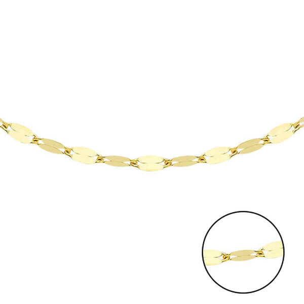 9K Yellow Gold Sparkle Forzatina Chain (Size 20), Gold wt 1.70 Gms